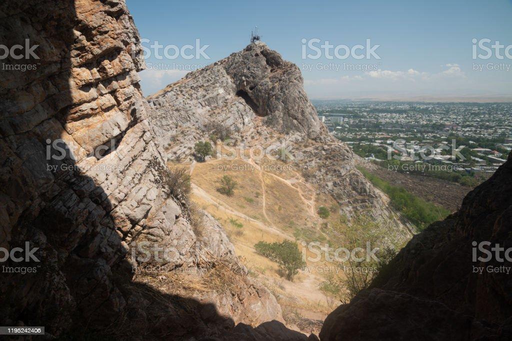 Blick vom Sulaiman-Too Berg in Osh, Kirgisistan - Lizenzfrei Alt Stock-Foto