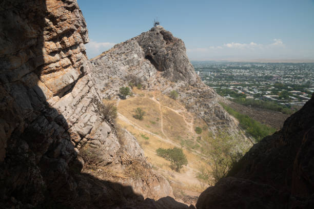 View from Sulaiman-Too mountain in Osh, Kyrgyzstan stock photo