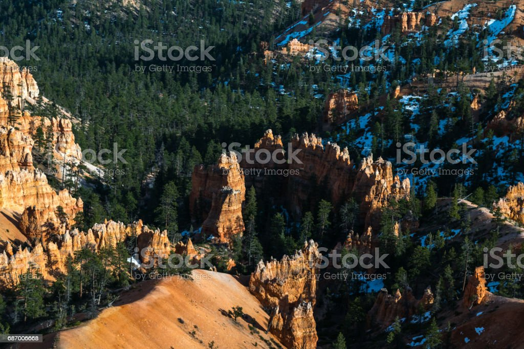 View from Sunrise Point, Hiking in Bryce Canyon, Rim trail-Sunset to Sunrise, Queens Garden and Peek-A-Boo Loop Trails, Bryce Canyon National Park, North America, USA Lizenzfreies stock-foto