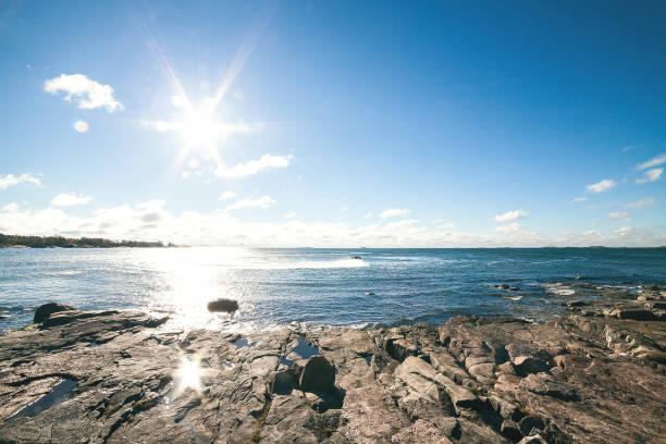 View from Suomenlinna Island in Helsinki stock photo