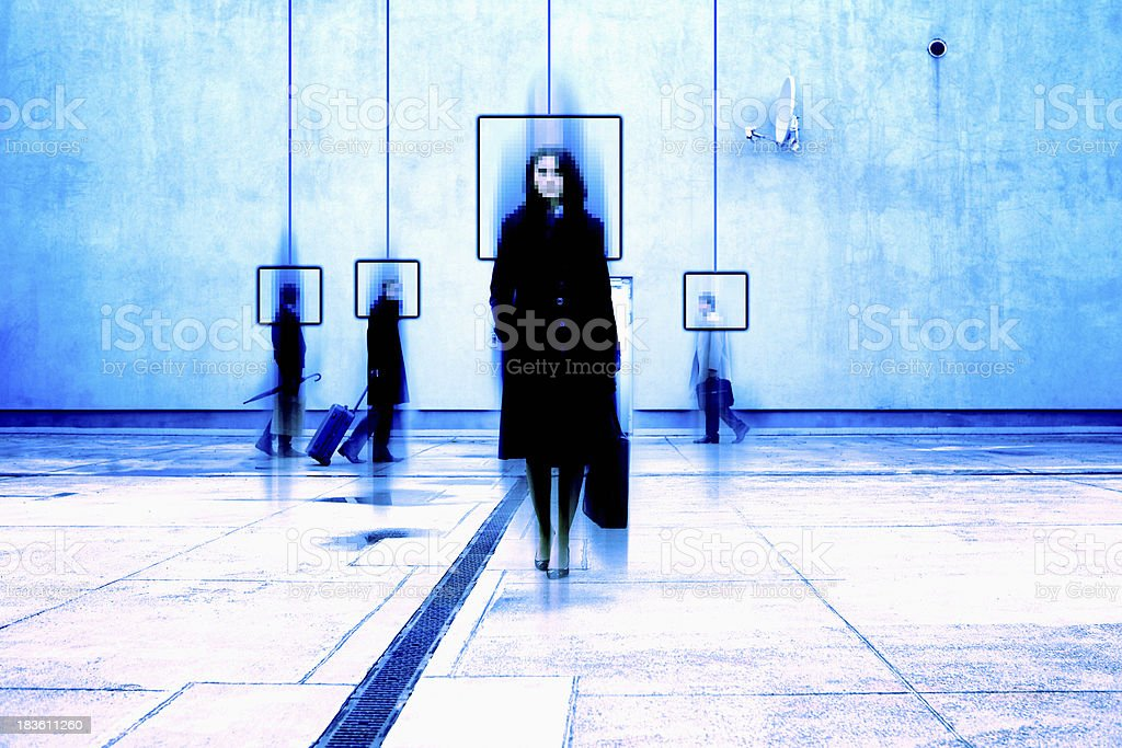 View from surveillance camera royalty-free stock photo