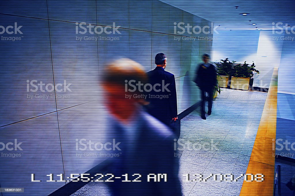 View from surveillance camera stock photo
