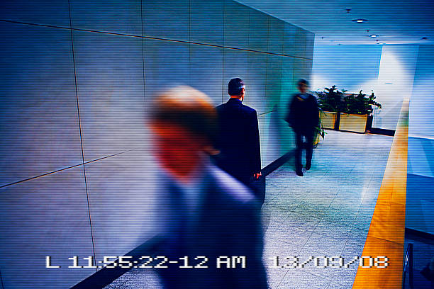 view from surveillance camera - big brother orwellian concept stock pictures, royalty-free photos & images