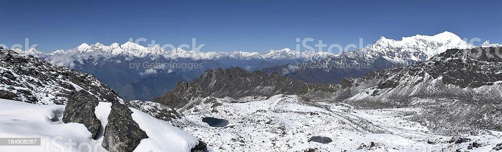 View from Surya Peak stock photo