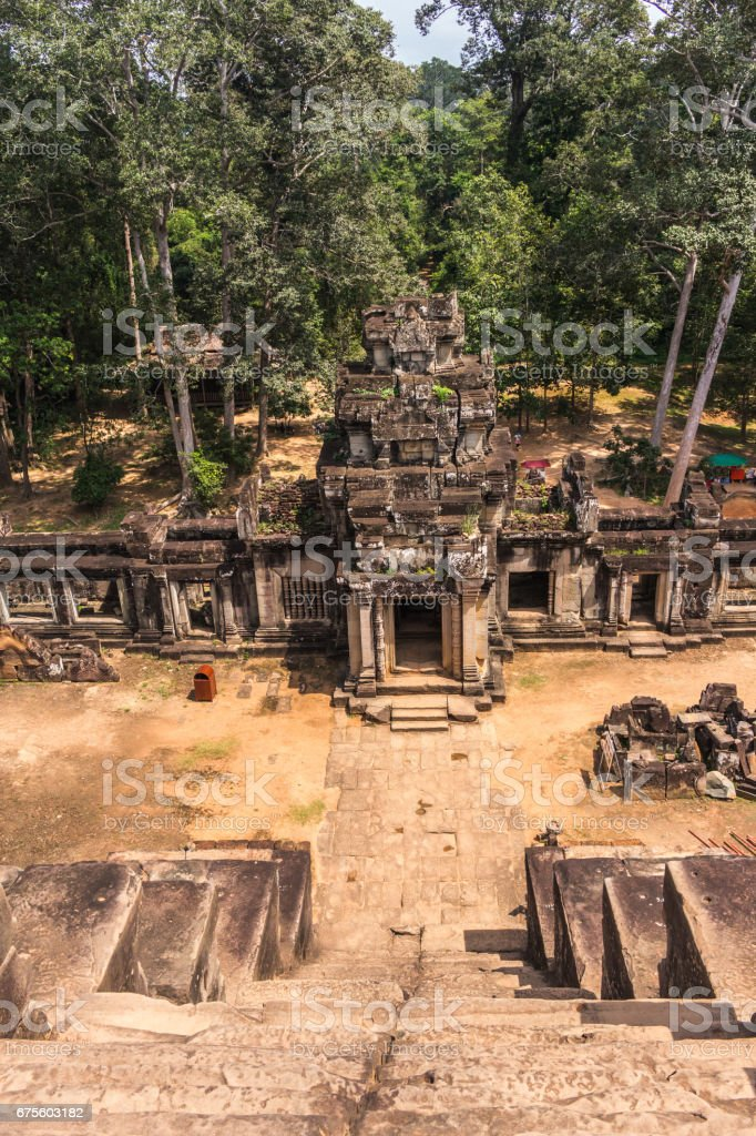 View from Ta Keo temple in Angkor, Siem Reap, Cambodia foto de stock royalty-free