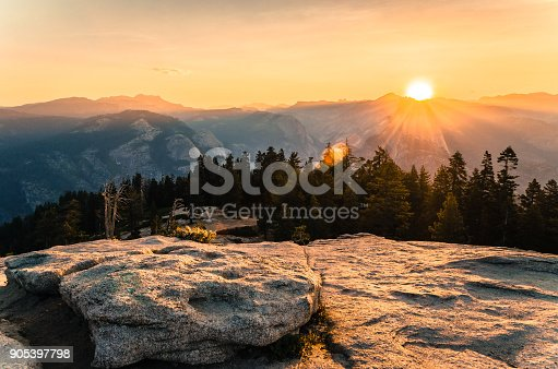 Yosemite National Park. One of the most famous National parks in California USA