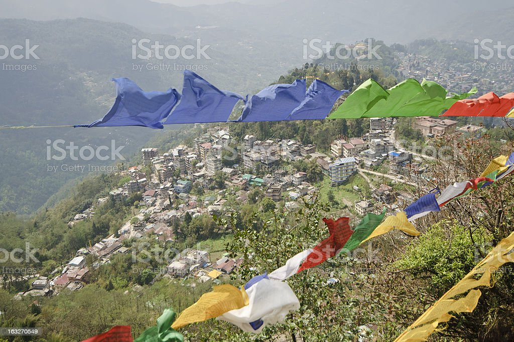 View from Tashi Viewpoint at Gangtok, India royalty-free stock photo