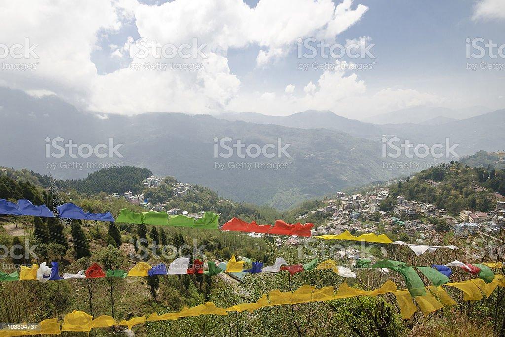 View from Tashi Viewpoint at Gangtok, India stock photo