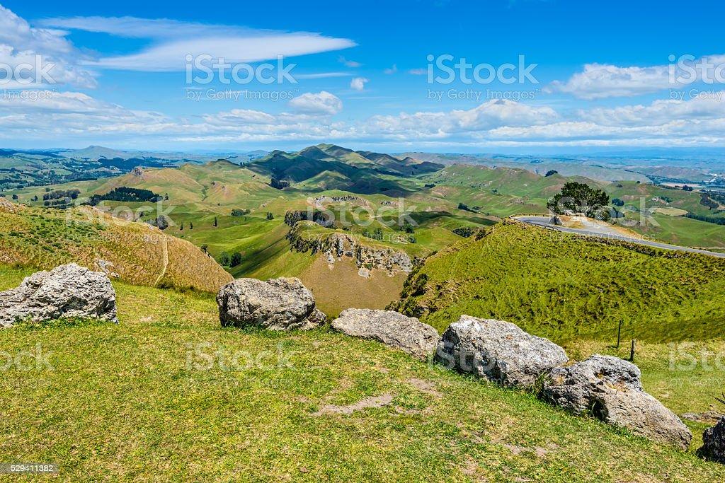 View from Te Mata Peak stock photo