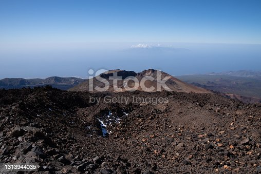 istock View from Teide то Pico Viejo mount. Teide national Park, Tenerife, Canary Islands, Spain 1313944035