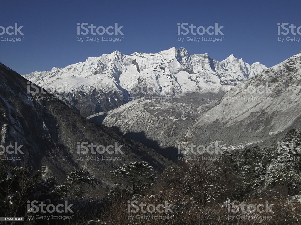 View from Tengboche royalty-free stock photo