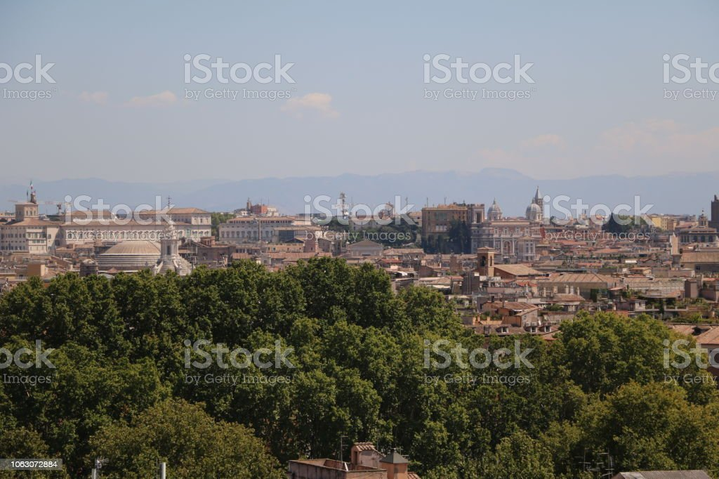 View From Terrazza Del Gianicolo To Rome Italy Stock Photo