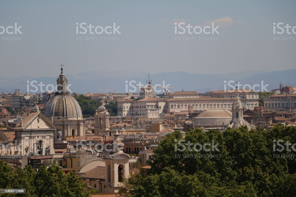 View From Terrazza Del Gianicolo To The Historic Center Of