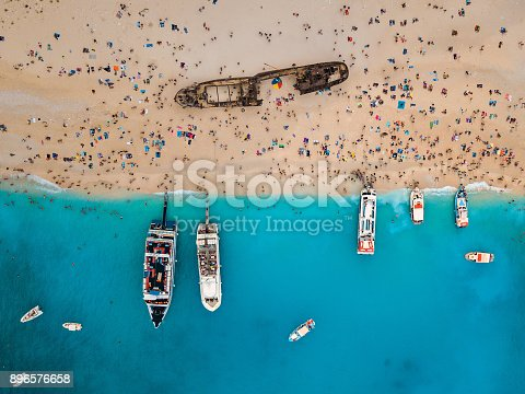 490314373 istock photo View from the air on the famous Navagio Shipwreck beach on Zakynthos island 896576658