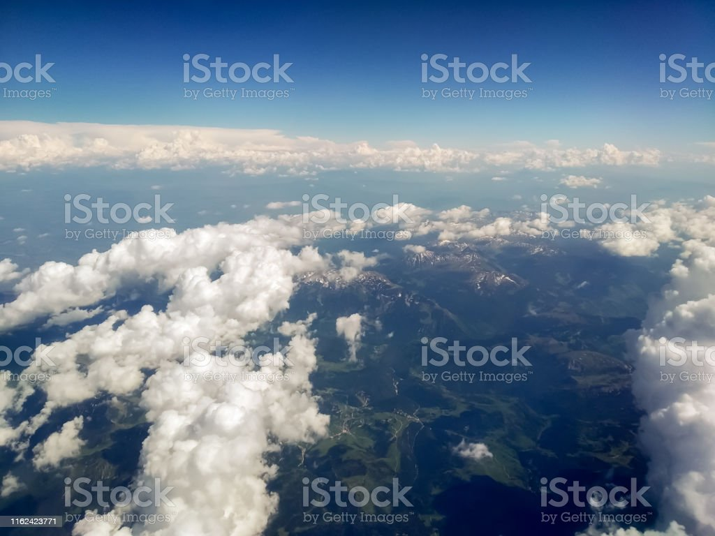 Cloudscape, Clear Sky, Airplane, Montenegro, Flying
