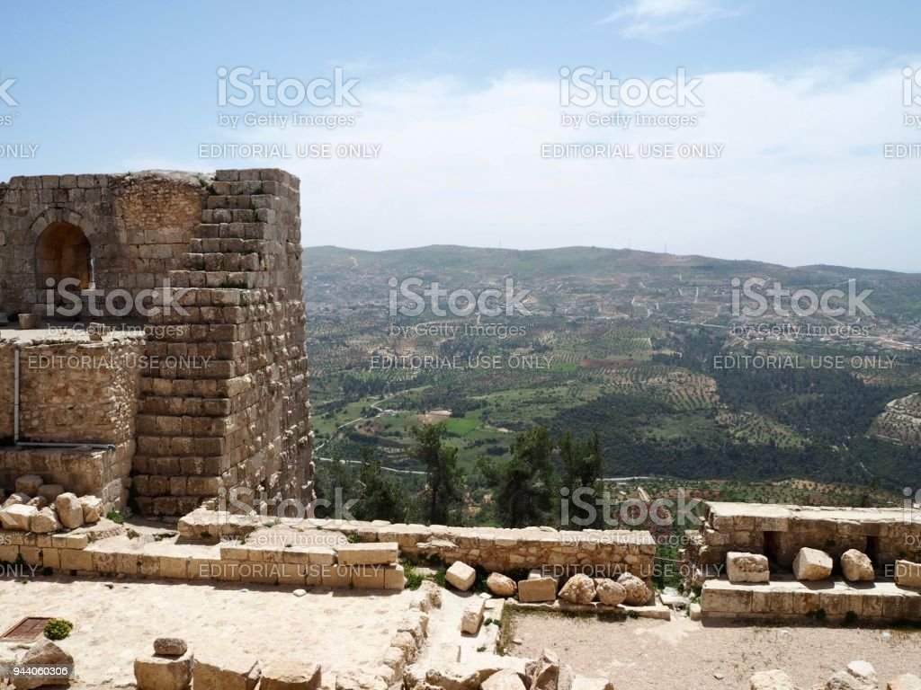 View from the Ajloun castle stock photo