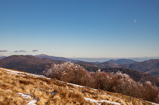 View from the Alsace Belchen to the east