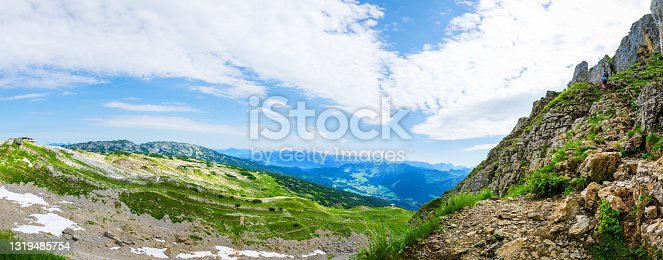 istock View from the ascent to the mountain Hoher Ifen, Austria 1319485754