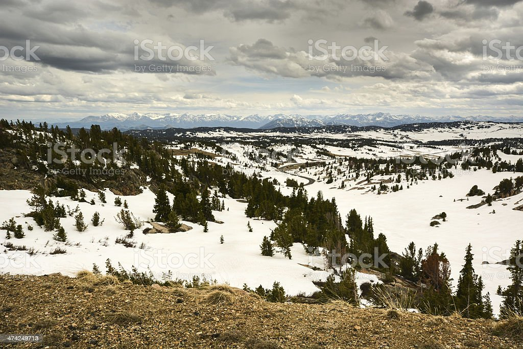 View From the Beartooth Highway royalty-free stock photo