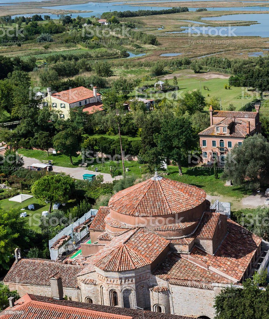 View from the bell tower of Torcello stock photo