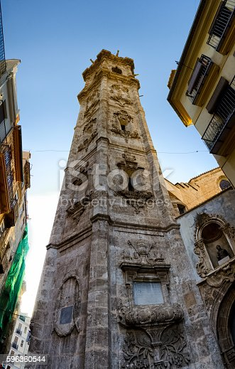 View From The Bottom Of Tower Santa Catalina In Valencia Stock Photo & More Pictures of Architecture