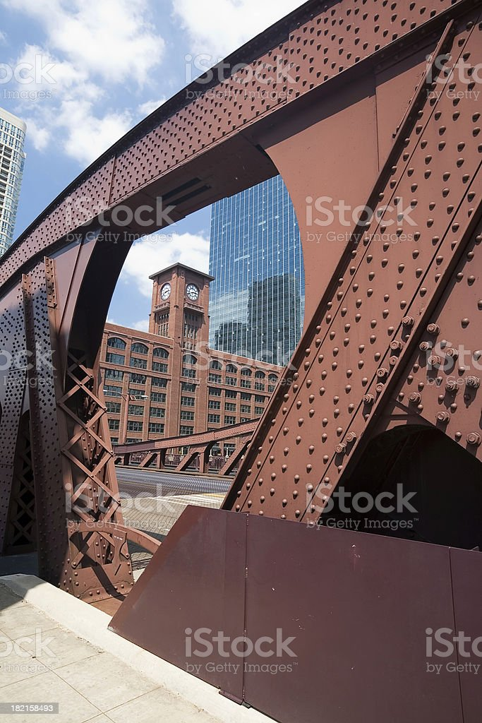 View from the Bridge, Chicago stock photo