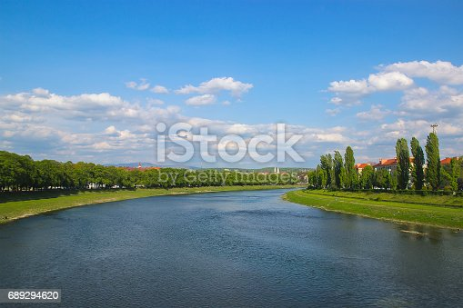istock view from the bridge over the river Uzh 689294620