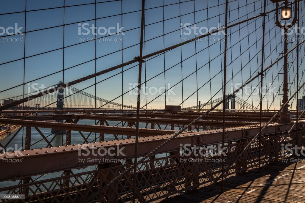 View from the Brooklyn Bridge stock photo