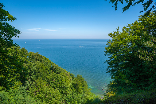 View from the chalk cliffs near Sassnitz