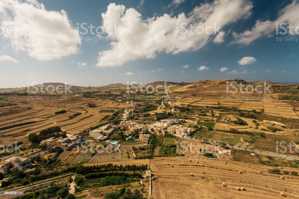 View from the Citadel old town of Victoria, Gozo island, Malta royalty-free stock photo