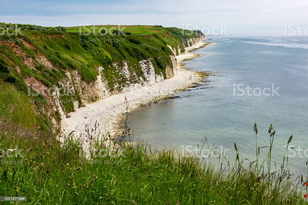 View from the cliffs looking towards dane's Dyke from Sewerby, England.