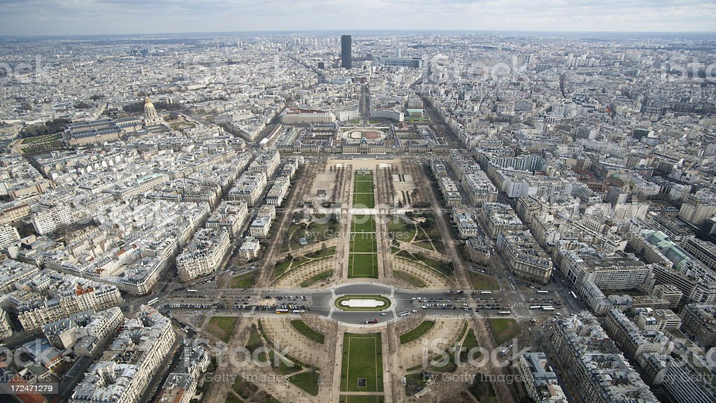 View from the Eiffel tower royalty-free stock photo