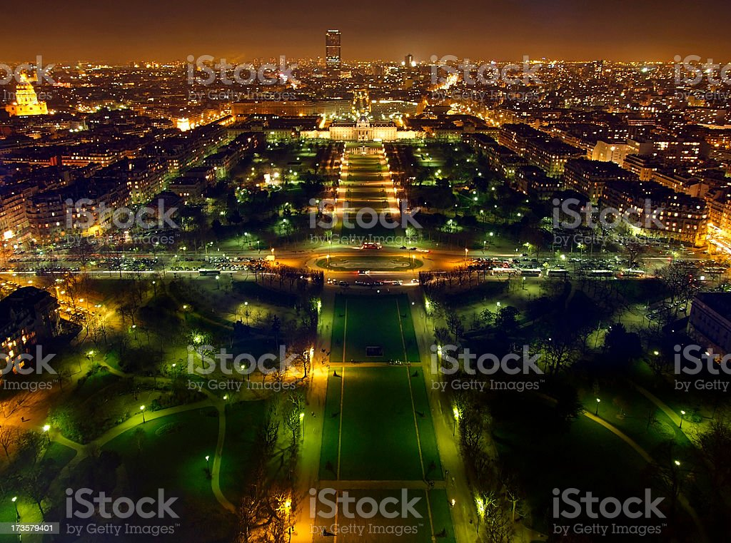 View from the Eiffeltower royalty-free stock photo