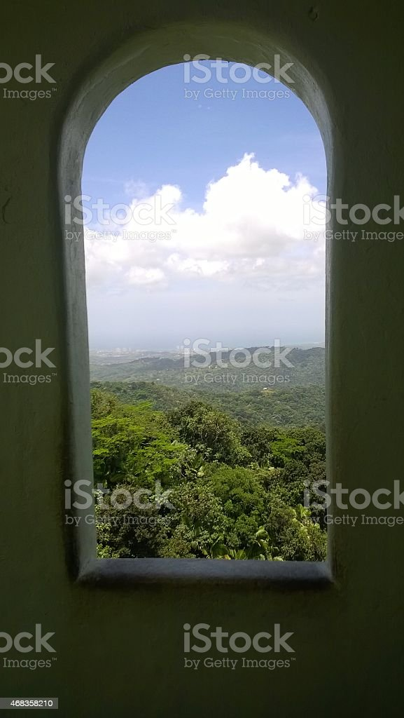 View from the El Yunque royalty-free stock photo