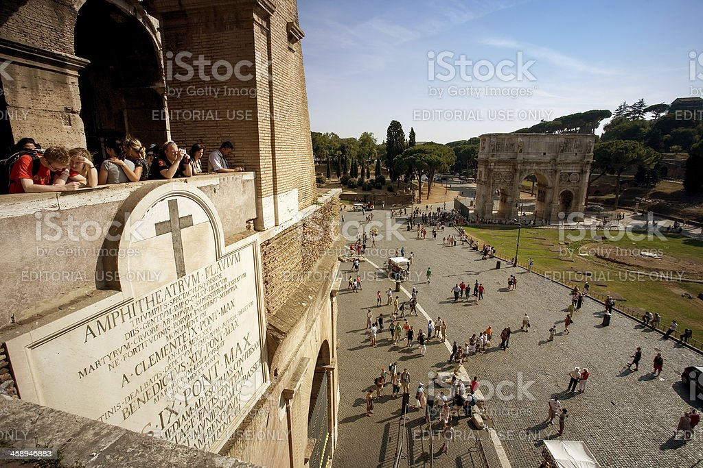 View from the Flavian Amphitheater, or Coliseum royalty-free stock photo