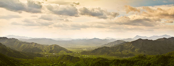 Blick vom the Great Wall of China – Foto