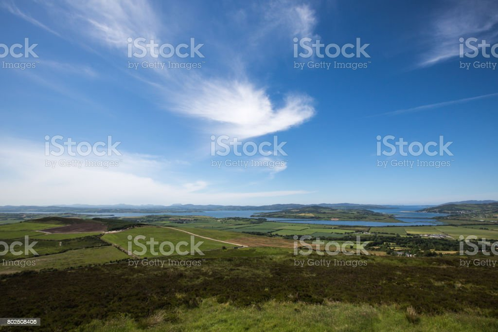 View from the Grianan of Aileach, Donegal stock photo