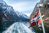 View from the Gudvanjen-Flam fjord cruise in Norway, clicked from Gudvanjen