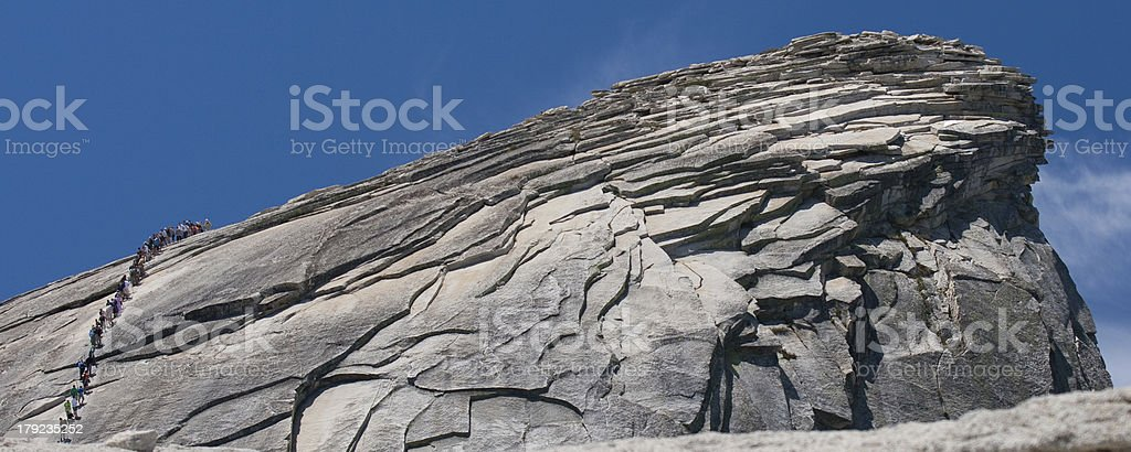 View from the Half Dome royalty-free stock photo