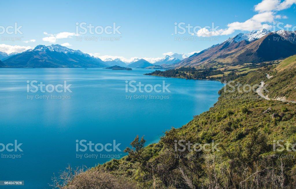 View from the head of lake Wakatipu in Otago region of New Zealand. - Royalty-free Adulation Stock Photo