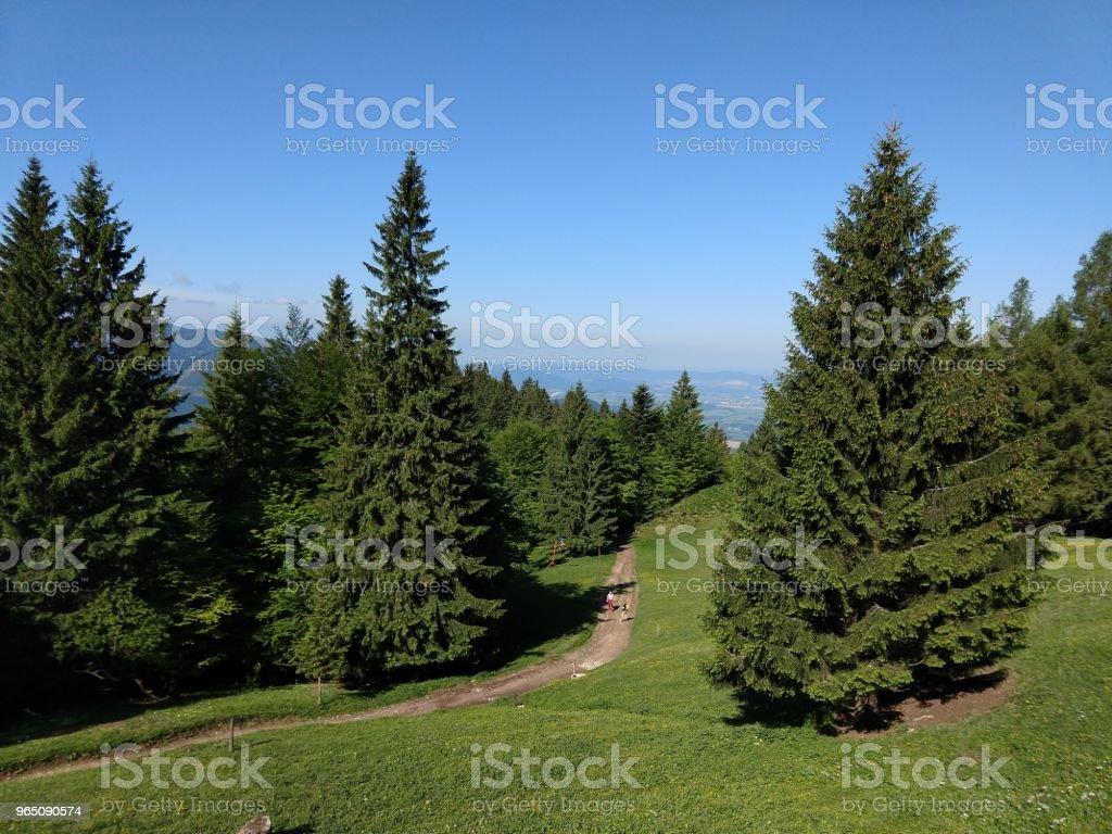 View from the hills. zbiór zdjęć royalty-free