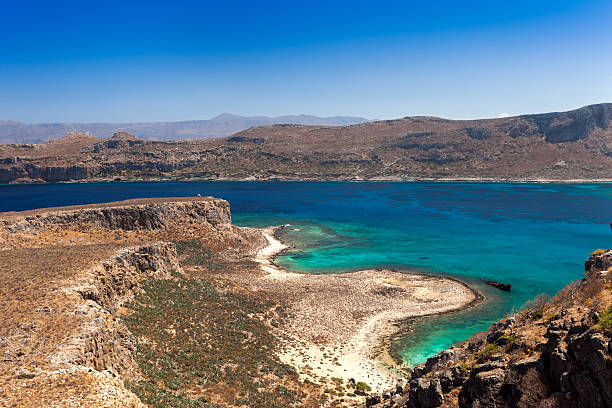 View from the island of Gramvousa stock photo