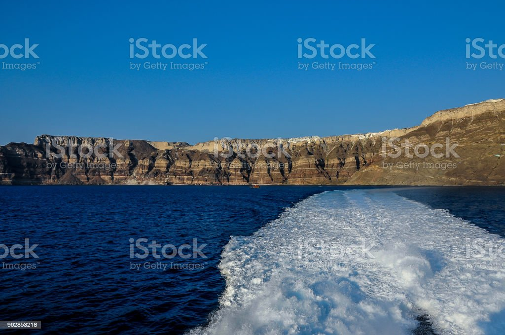 view from the island of Santorini stock photo