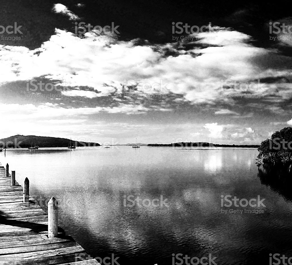 View from the Jetty royalty-free stock photo