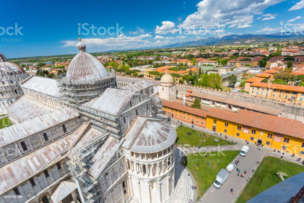 View from the  Leaning Tower in Pisa 免版稅 stock photo
