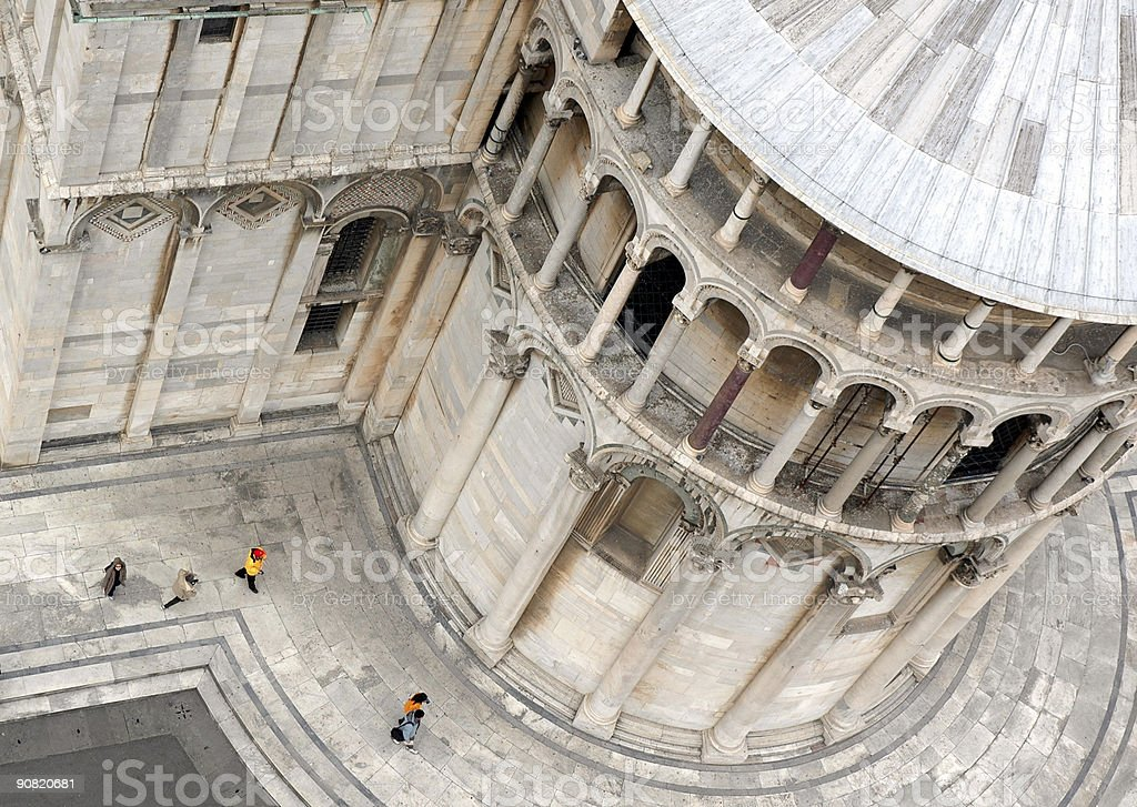 View from the Leaning Tower of  Pisa royalty-free stock photo