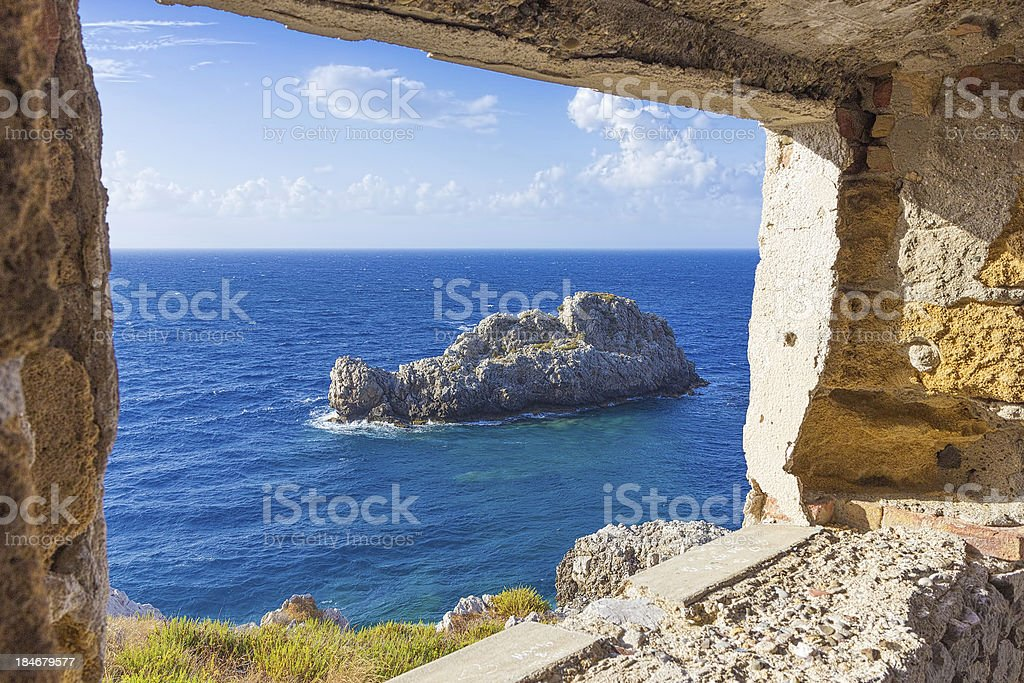 View from the lighthouse of Capo Zafferano stock photo