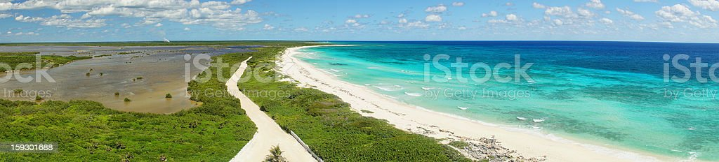 View from the lighthouse Punta Sur Ecological Park. Cozumel royalty-free stock photo