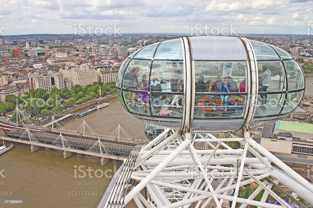 View from the London Eye royalty-free stock photo