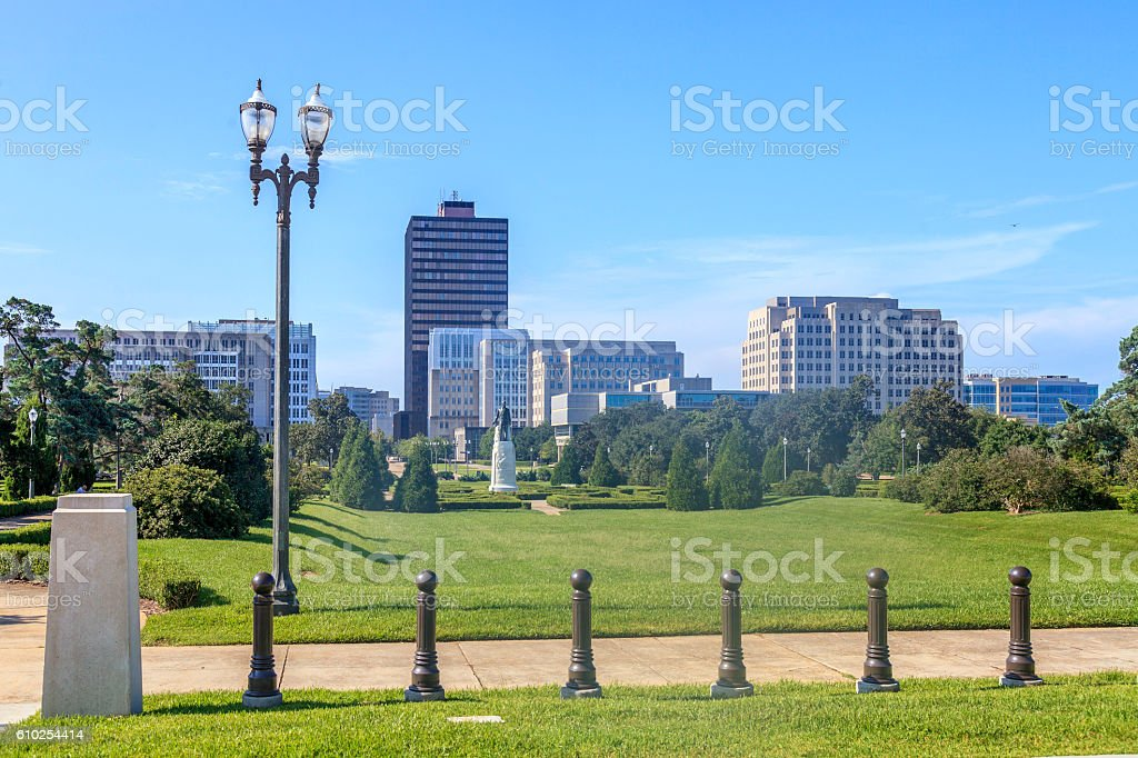 View from the Louisiana State Capitol Building stock photo